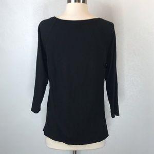 J. Jill Tops - J. Jill Black Pullover 3/4 Sleeve T-shirt